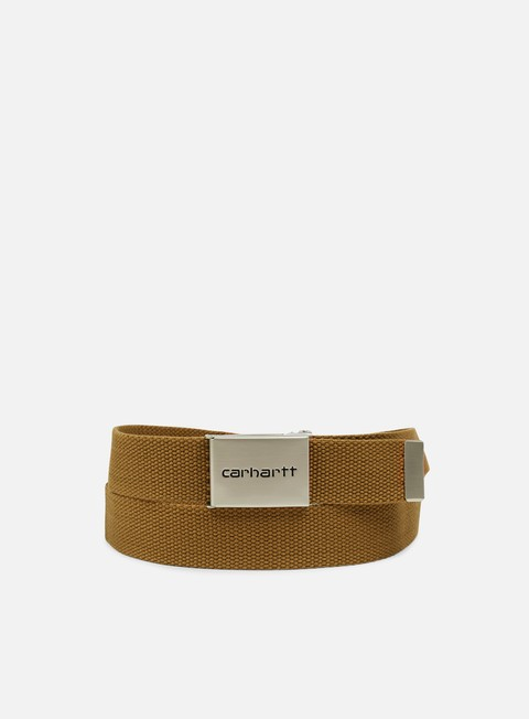 accessori carhartt clip belt chrome hamilton brown