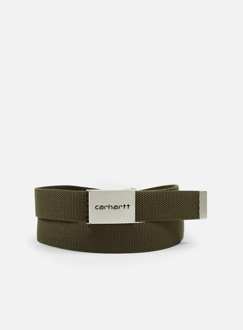 accessori carhartt clip belt chrome leaf