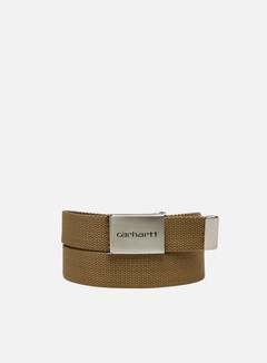 Carhartt - Clip Belt Chrome, Leather