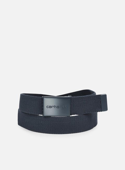 accessori carhartt clip belt tonal navy