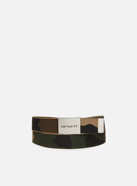 accessori carhartt clip chrome belt camo laurel