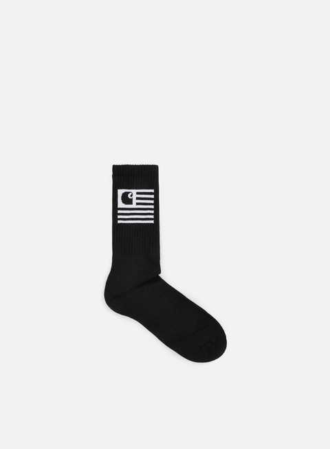 accessori carhartt state socks black white