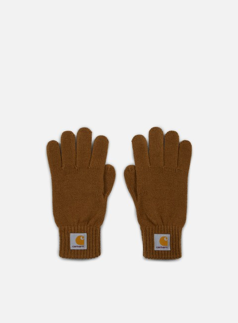 accessori carhartt watch gloves hamilton brown