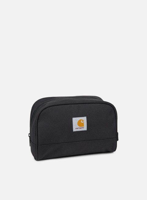 accessori carhartt watch travel case soot black