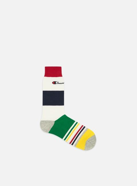 Socks Champion Striped Short Crew Socks