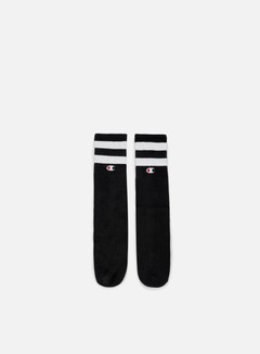 Champion - Tube Stripe Crew Socks, Black 1
