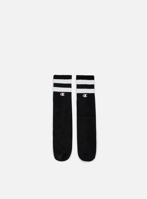 accessori champion tube stripe crew socks black