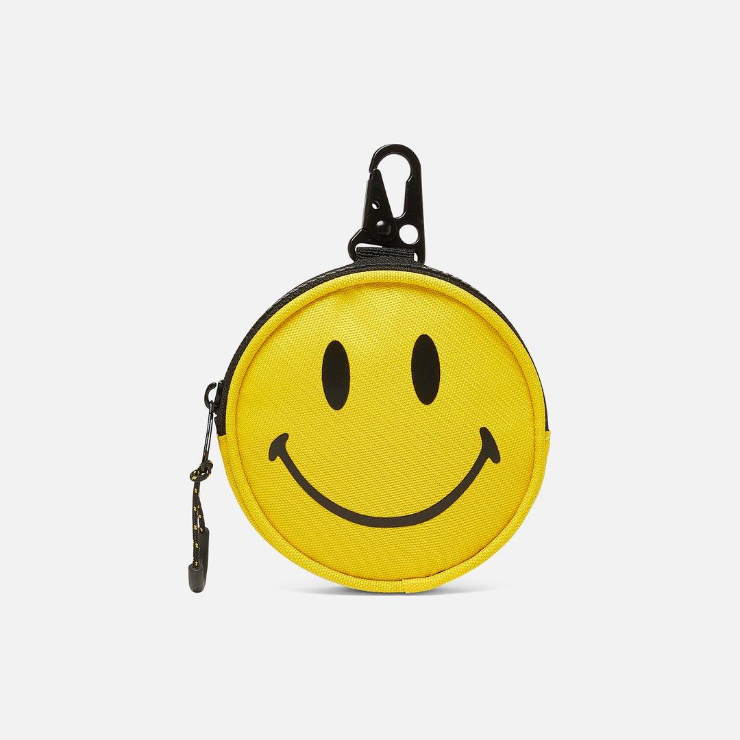 SMILEY FACE PURSE HANDBAG HOOK HANGER HOLDER CHROME YELLOW #185