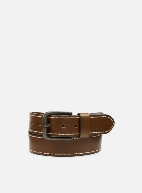 accessori dickies branchville leather belt brown