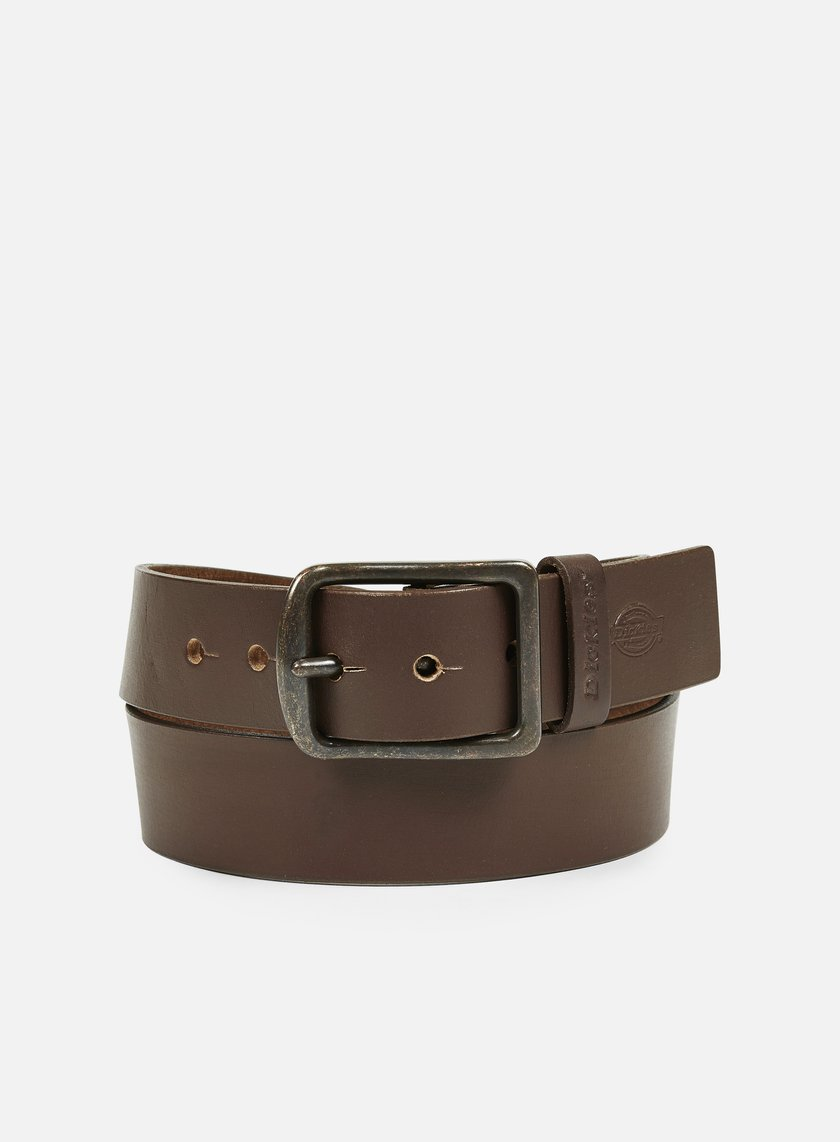 Dickies - Helmsburg Leather Belt, Brown OLD NO CHILD