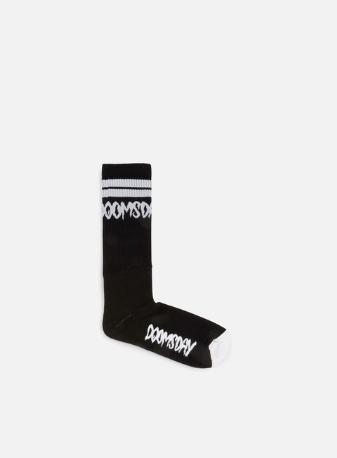 accessori doomsday logo socks black white