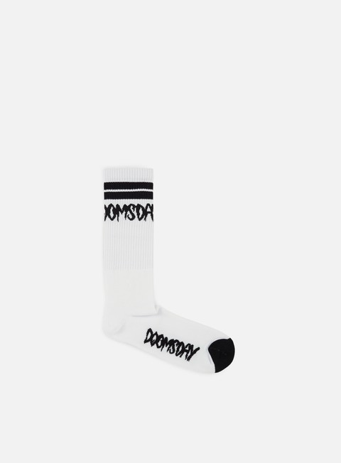 accessori doomsday logo socks white black