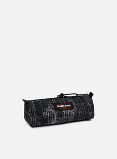 Eastpak - Benchmark Pencil Case, Black Blocks