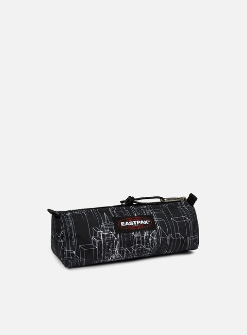 accessori eastpak benchmark pencil case black blocks