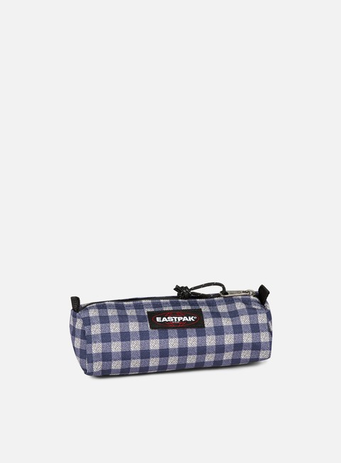 accessori eastpak benchmark pencil case checksange blue