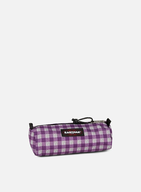 accessori eastpak benchmark pencil case checksange purple