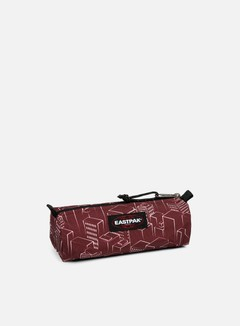 Eastpak - Benchmark Pencil Case, Merlot Blocks 1