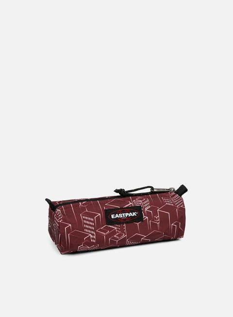 accessori eastpak benchmark pencil case merlot blocks