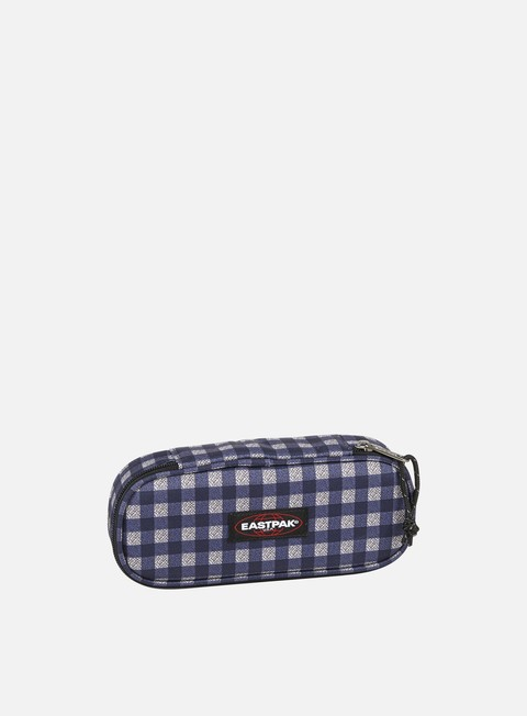 accessori eastpak oval pencil case checksange blue
