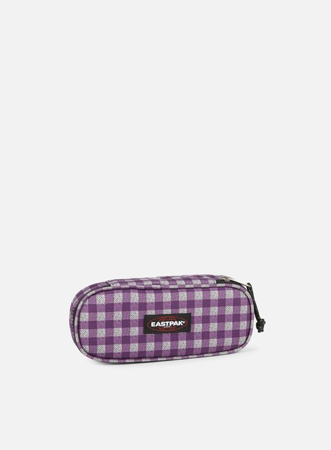 accessori eastpak oval pencil case checksange purple