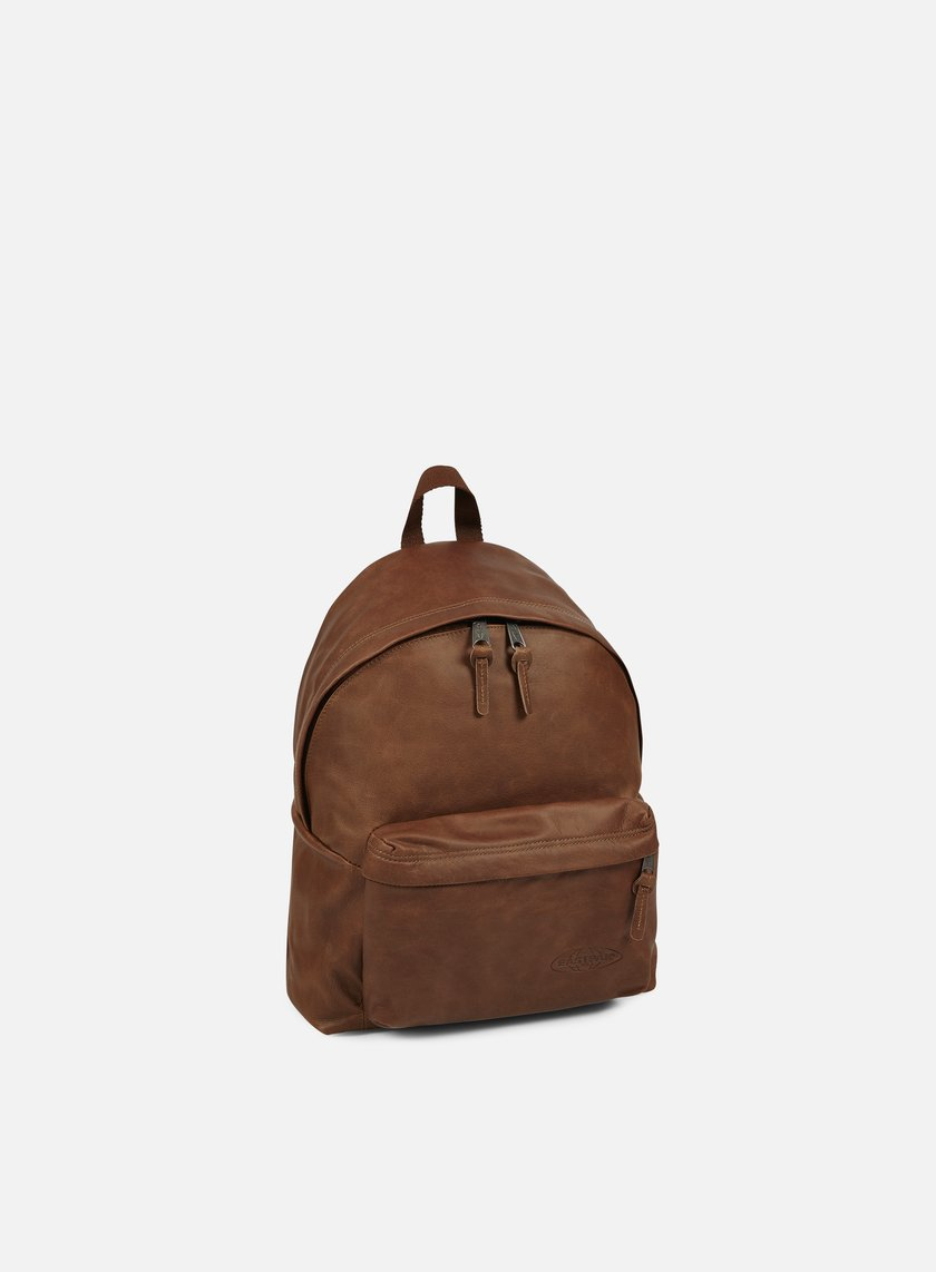 ... Eastpak - Padded Pak'r Backpack, Brownie Leather ...