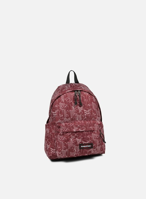 accessori eastpak padded pak r backpack merlot blocks
