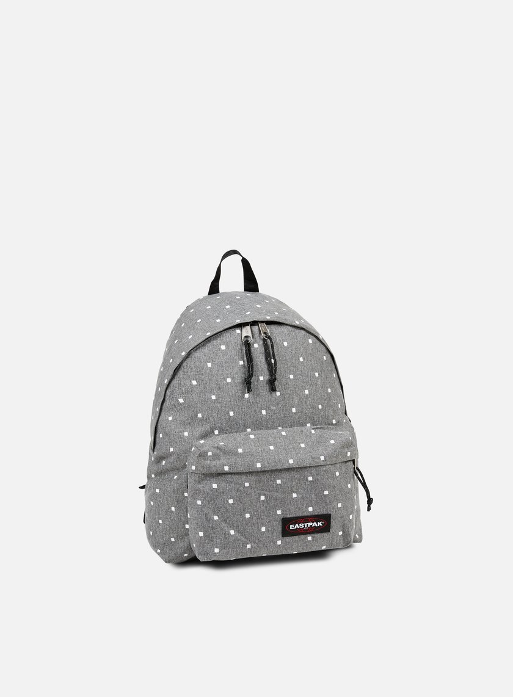 eastpak padded pak 39 r backpack white squares 27 50 ek62092p accessories backpacks. Black Bedroom Furniture Sets. Home Design Ideas