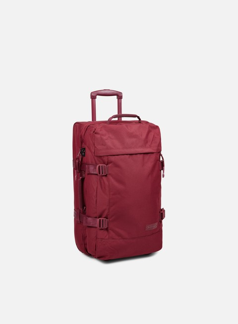 accessori eastpak tranverz travel bag medium merlot matchy
