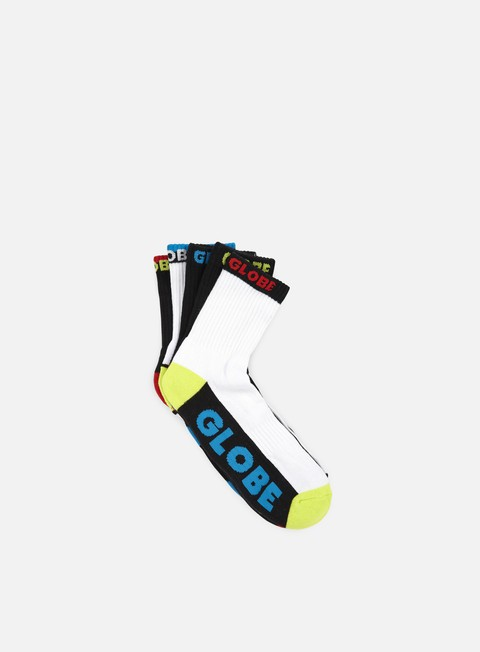 accessori globe destroyer colour crew socks 5 pack assorted
