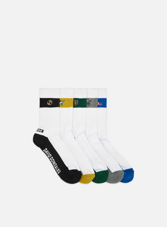 Globe Team Crew Socks 5 Pack