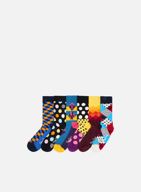 accessori happy socks 10 year anniversary gift box blue yellow black pink purple