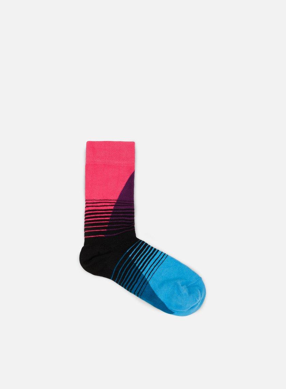 Happy Socks Womens 80S Fade Socks With Multicolor Pattern