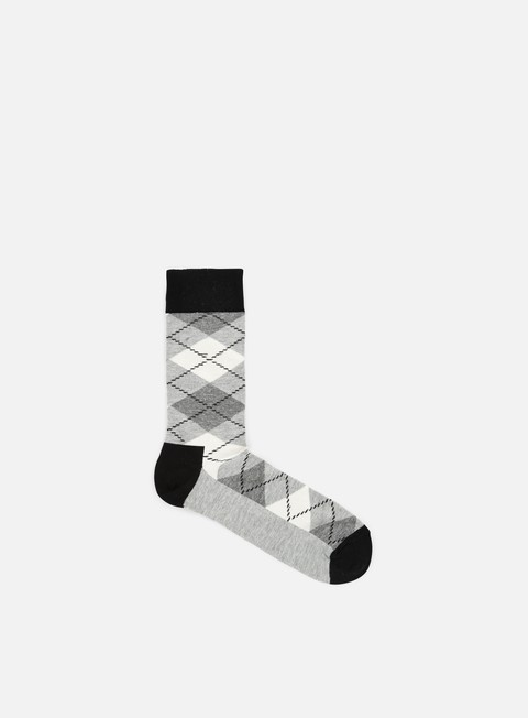 accessori happy socks argyle black grey cream