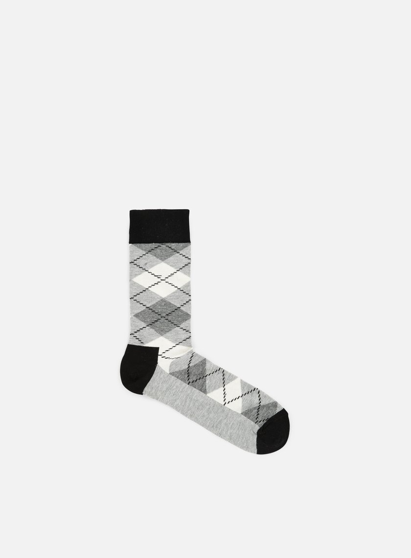 Happy Socks - Argyle, Black/Grey/Cream