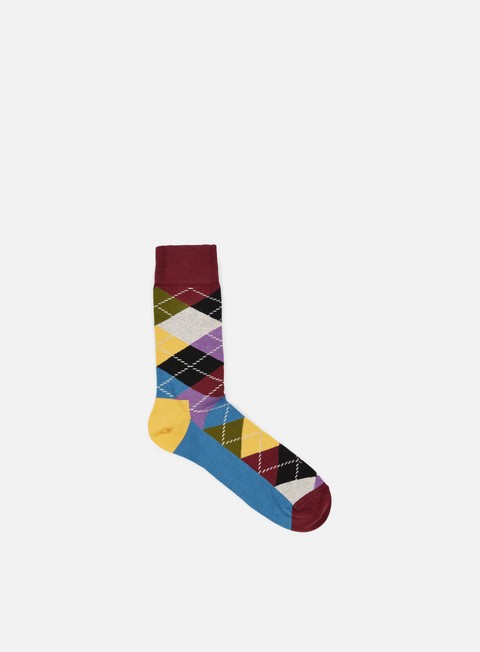 accessori happy socks argyle burgundy multi yellow