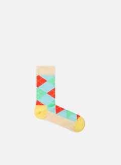 Happy Socks - Argyle, Cream/Multi/Yellow