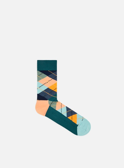 accessori happy socks argyle orange blue teal green
