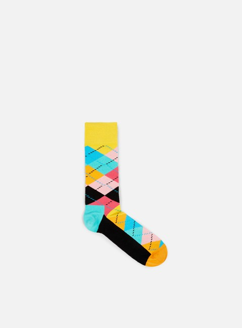 accessori happy socks argyle yellow black orange