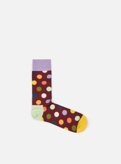 Happy Socks - Big Dot, Bordeaux/Multi