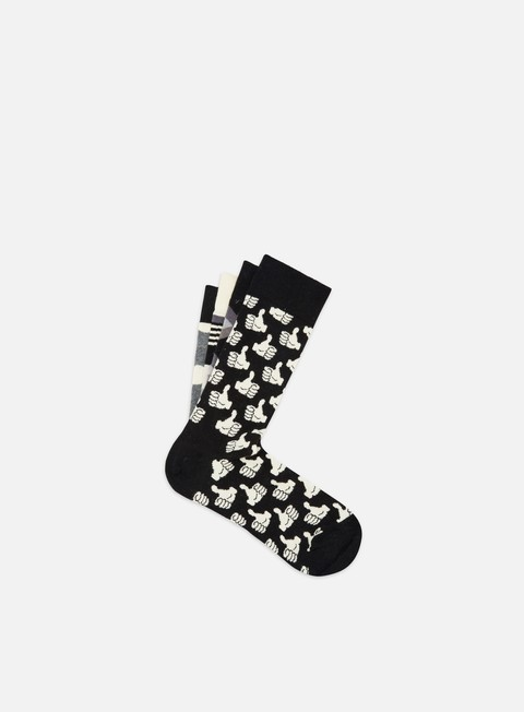 Calze Happy Socks Black And White Gift Box