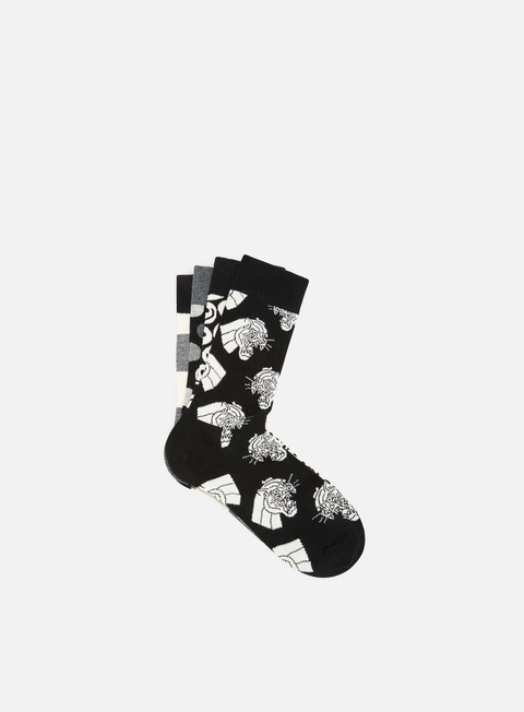 accessori happy socks black e white gift box black white
