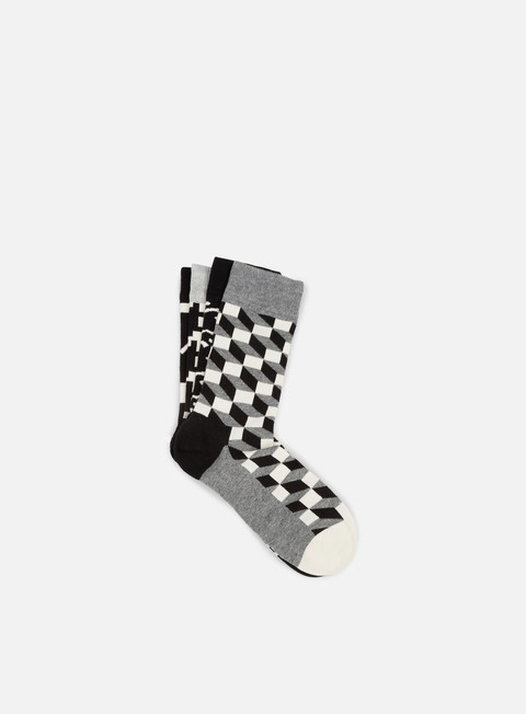 Outlet e Saldi Calze Happy Socks Black White Gift Box