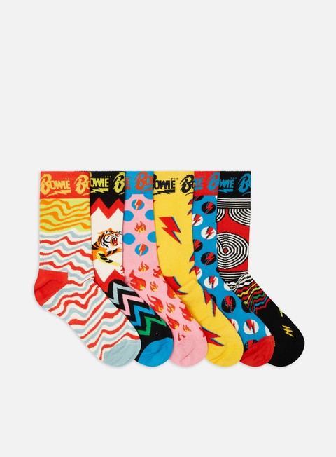 Outlet e Saldi Calze Happy Socks Bowie 6 Pack Gift Box
