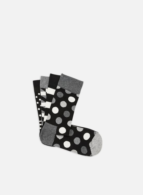 Sale Outlet Socks Happy Socks Classic Black & White Gift Box