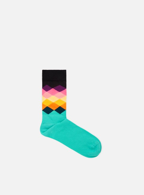 accessori happy socks faded diamonds black multi teal