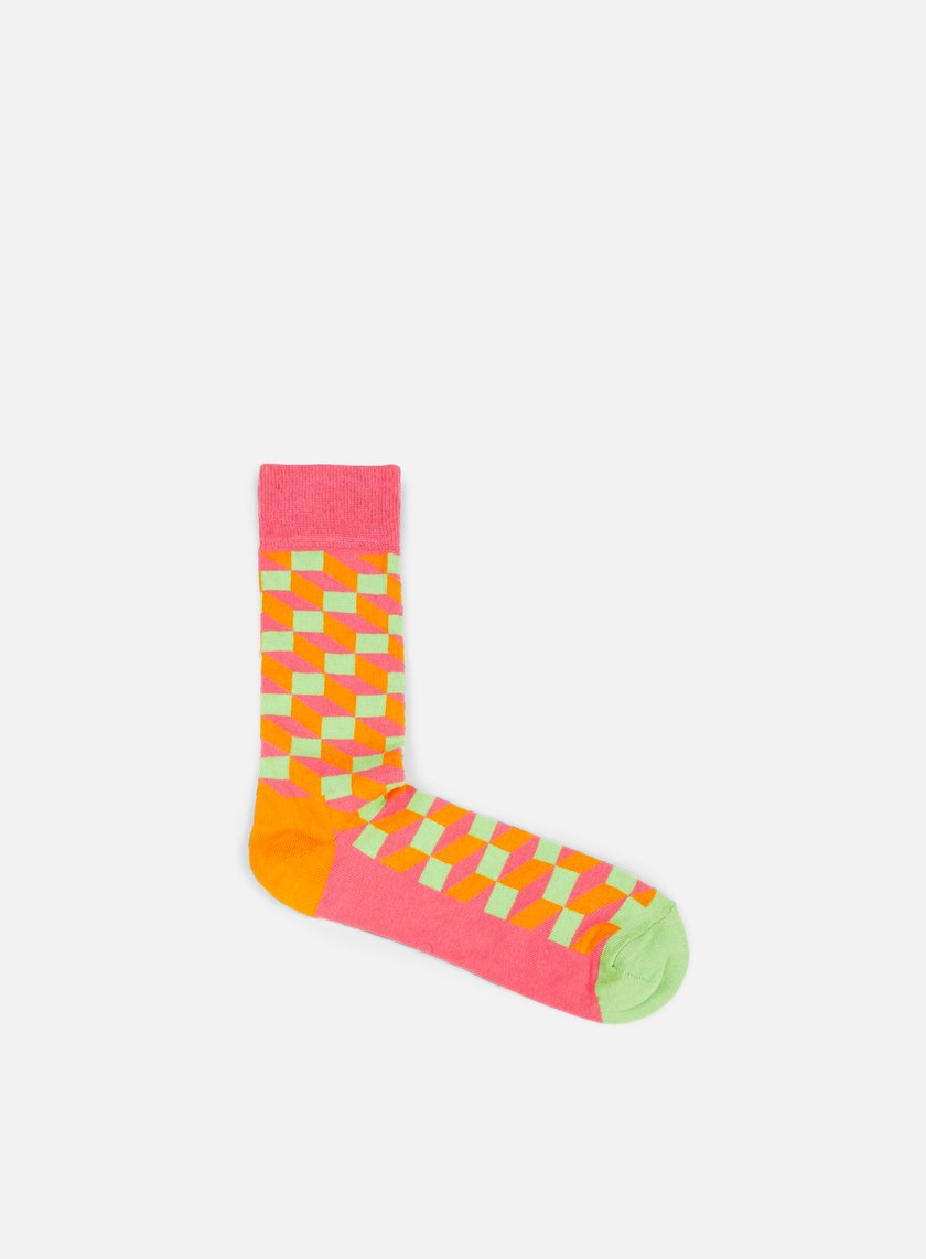 Happy Socks - Filled Optic, Fuchsia/Multi