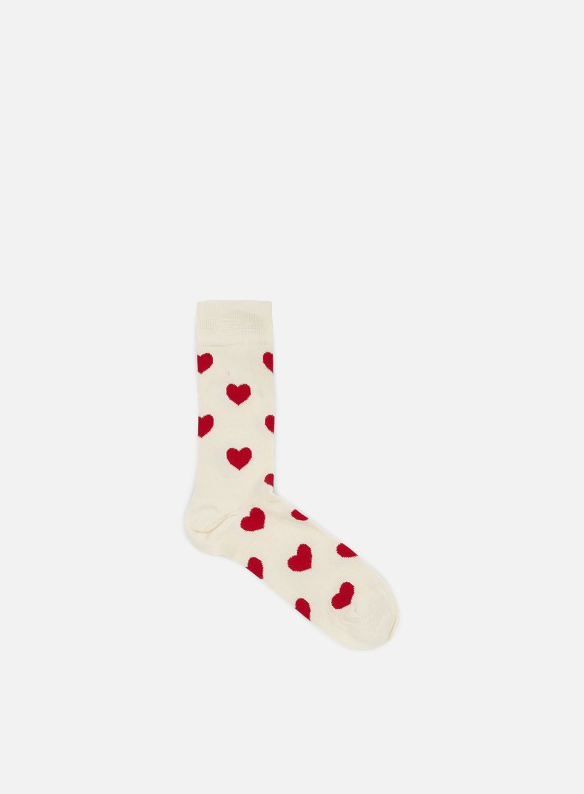 Happy Socks - Heart, Cream/Red