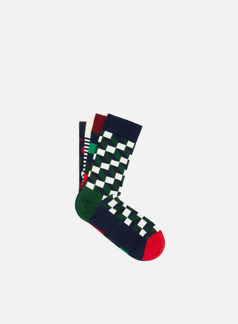 accessori happy socks holiday big dot gift box red blue green