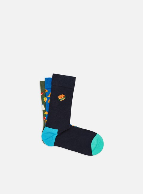 Outlet e Saldi Calze Happy Socks Junk Food 3 Pack Gift Box