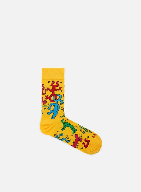 accessori happy socks keith haring all over yellow